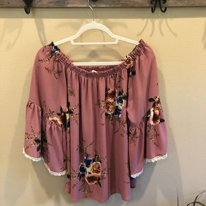 Off Shoulder Blouse/Top-Large